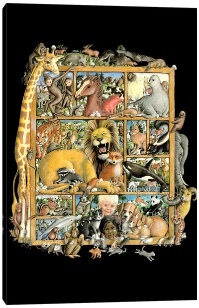 Mammal Menagerie Canvas Art Print