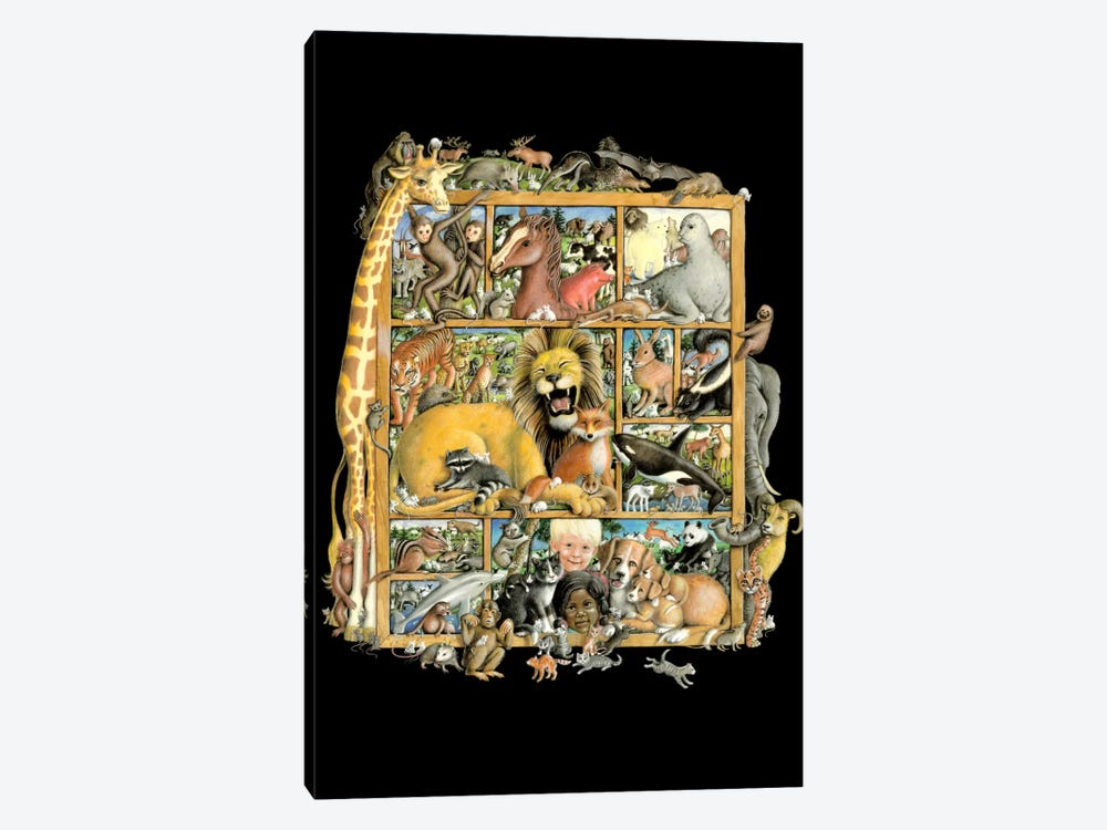 Mammal Menagerie 1-piece Canvas Art Print