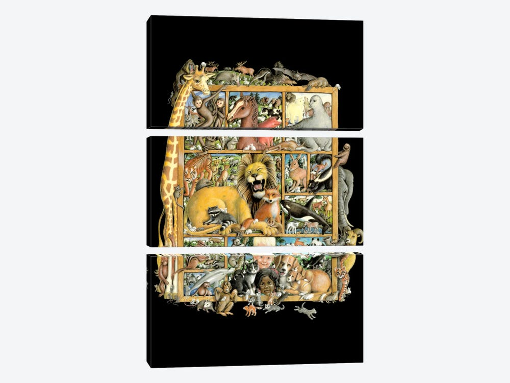 Mammal Menagerie by Laura Seeley 3-piece Canvas Art Print