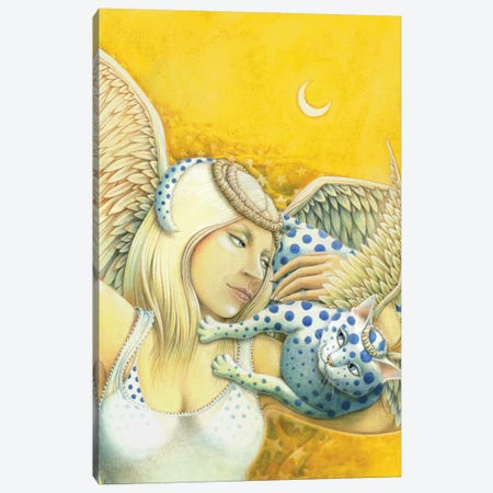 Days In The Nine Lives Of An Angel Canvas Print #LAU274} by Laura Seeley Art Print