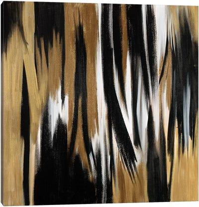 Gold/Black Untitled Canvas Art Print