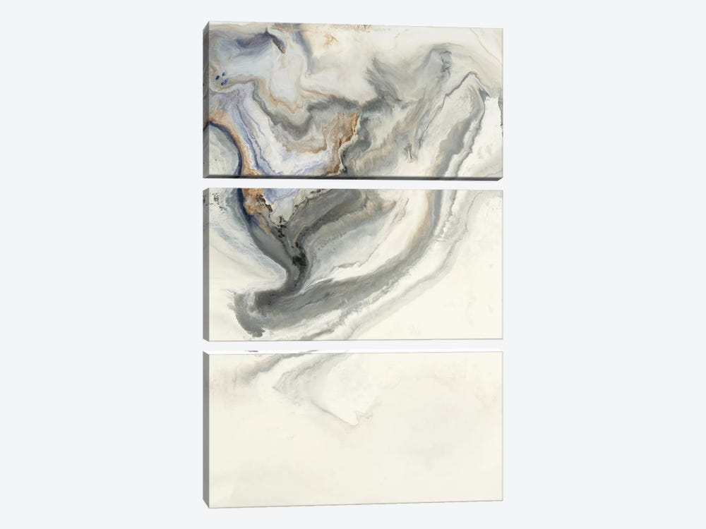 Untitled Gray/Brown by Corrie LaVelle 3-piece Canvas Artwork