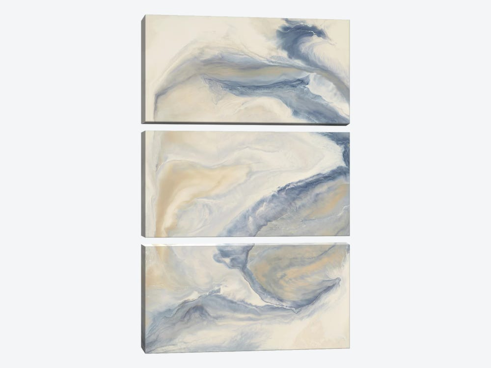 Untitled Neutral Blue by Corrie LaVelle 3-piece Canvas Art Print