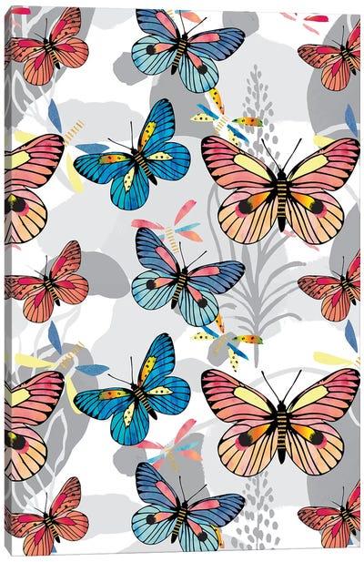 Pastel Butterflies Canvas Art Print