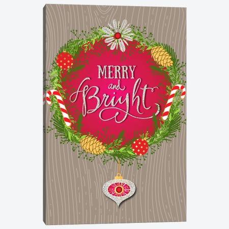 Merry And Bright Canvas Print #LBI18} by Linda Birtel Canvas Art Print