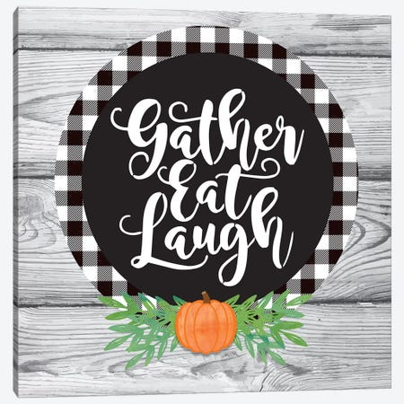 Fall Harvest Gather I Canvas Print #LBI7} by Linda Birtel Canvas Print