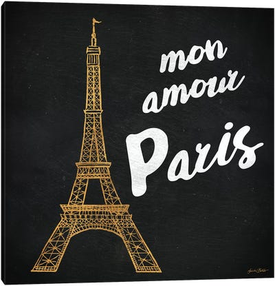 Mon Paris Gold I Canvas Art Print