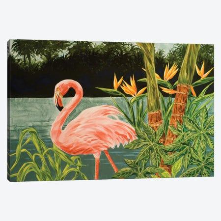 Tropical Flamingo I Canvas Print #LBK8} by Linda Baliko Canvas Art