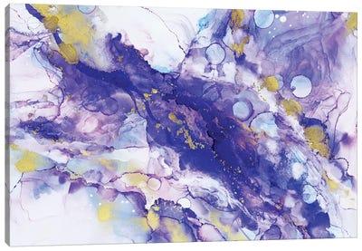 Purple Bubbles Canvas Art Print