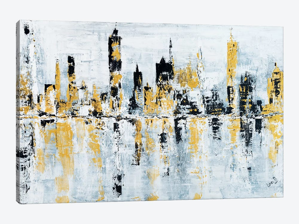 Shineytown by Lori Burke 1-piece Canvas Art