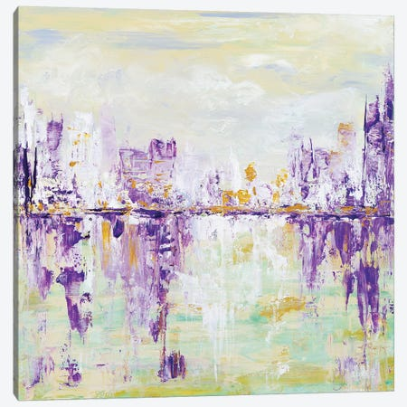 Soft Cityscape Canvas Print #LBU28} by Lori Burke Canvas Art