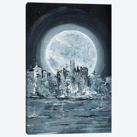 Supermoon Canvas Print #LBU36} by Lori Burke Canvas Artwork