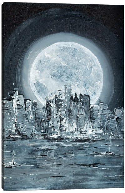 Supermoon Canvas Art Print