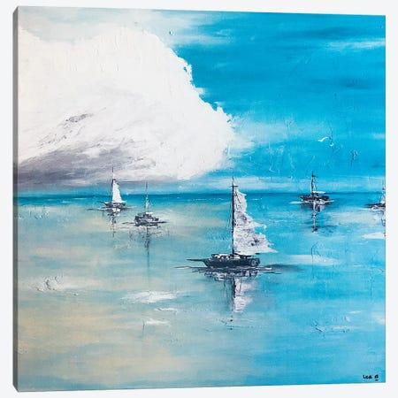 Boats Adrift Canvas Print #LBU3} by Lori Burke Canvas Print