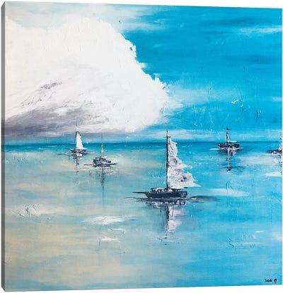 Boats Adrift Canvas Art Print
