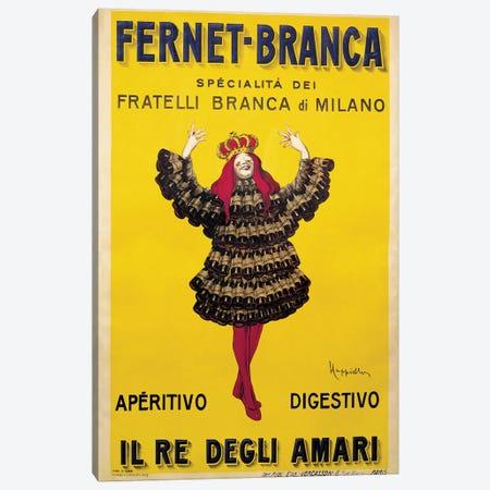Fernet Branca Yellow Canvas Print #LCA16} by Leonetto Cappiello Canvas Art Print