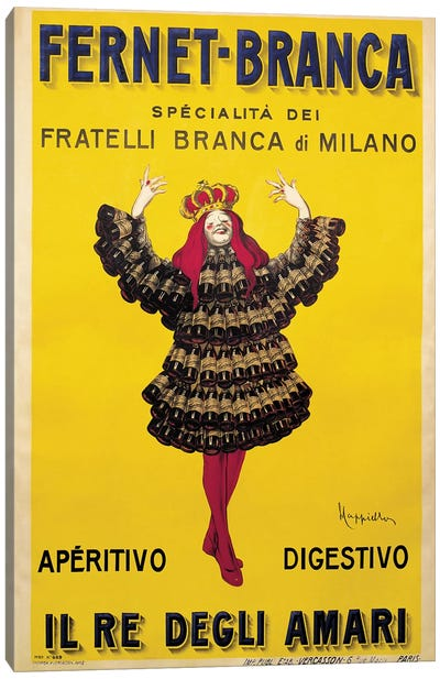 Fernet Branca Yellow Canvas Art Print