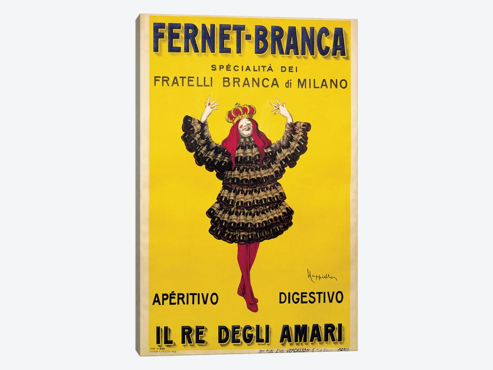 Fernet Branca Yellow by Leonetto Cappiello 1-piece Canvas Artwork