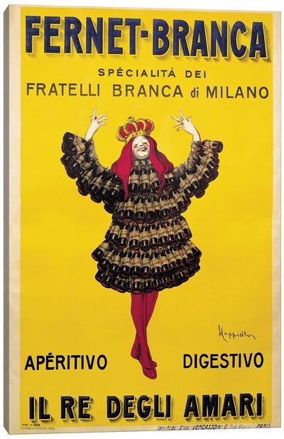 Fernet Branca Yellow Canvas Art Print