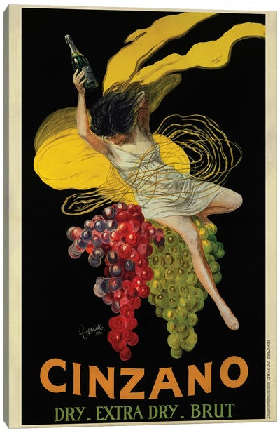 Cinzano, 1920 Canvas Art Print