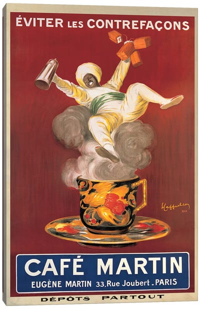 Cafe Martin, 1921 Canvas Art Print