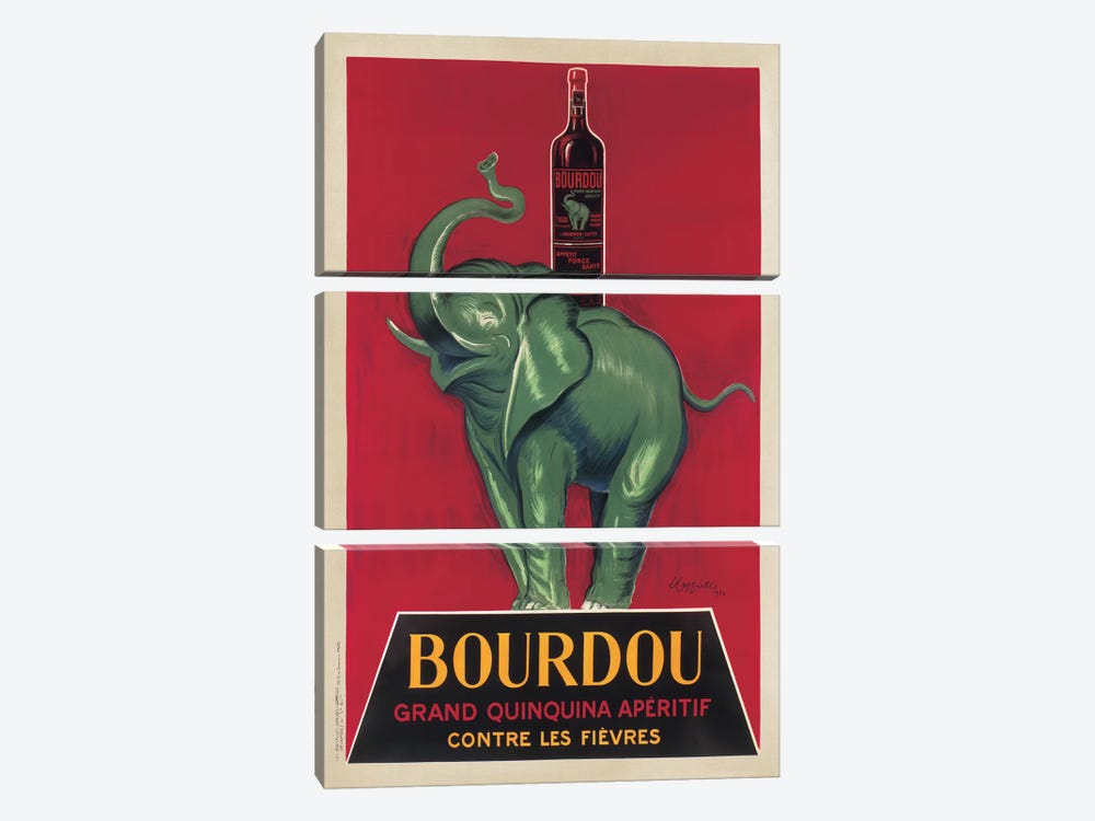 Bourdou by Leonetto Cappiello 3-piece Canvas Artwork