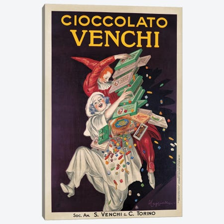 Cioccolato Venchi 3-Piece Canvas #LCA3} by Leonetto Cappiello Canvas Print