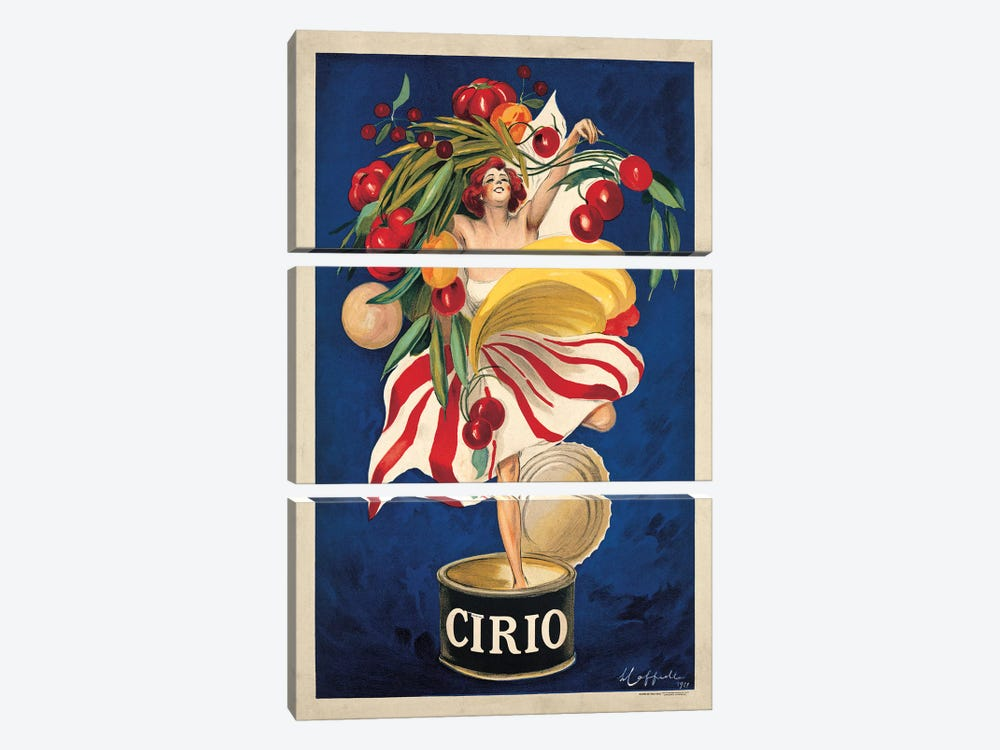 Cirio by Leonetto Cappiello 3-piece Canvas Print