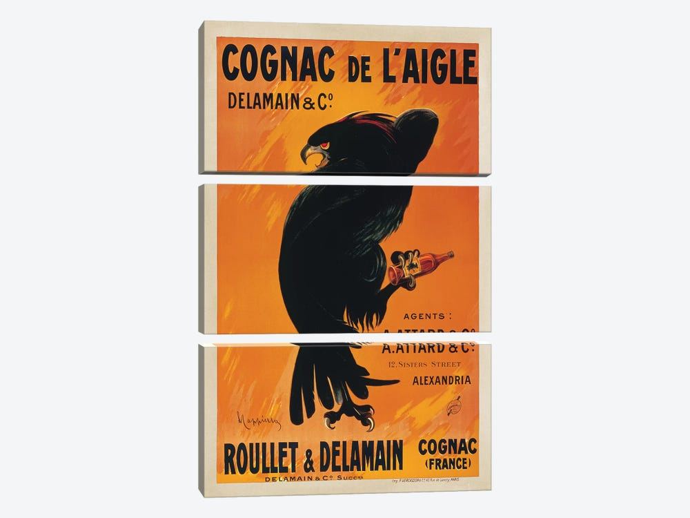 Cognac de l'Aigle by Leonetto Cappiello 3-piece Canvas Artwork