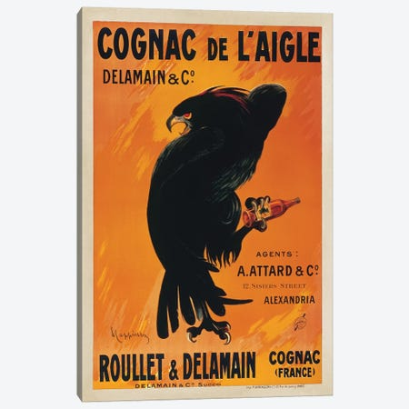 Cognac de l'Aigle Canvas Print #LCA5} by Leonetto Cappiello Canvas Wall Art