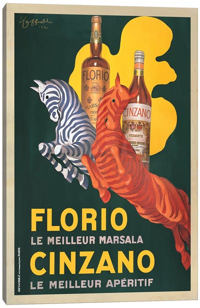 Florio e Cinzano, 1930 Canvas Art Print