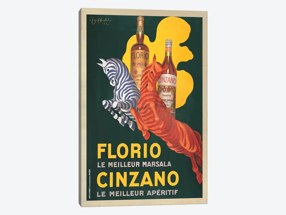 Florio e Cinzano, 1930 by Leonetto Cappiello 1-piece Art Print