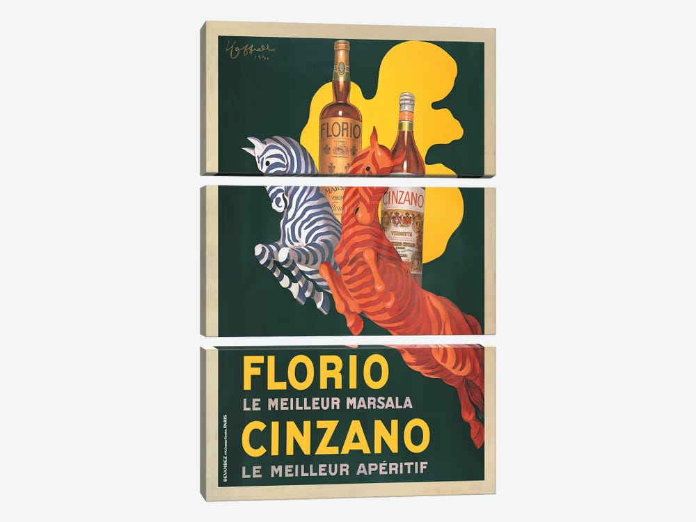 Florio e Cinzano, 1930 by Leonetto Cappiello 3-piece Art Print
