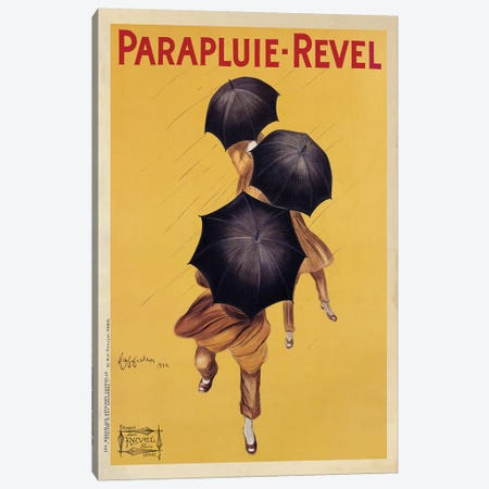 Parapluie-Revel, 1922 3-Piece Canvas #LCA8} by Leonetto Cappiello Canvas Art Print