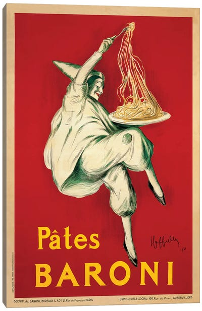 Pates Baroni, 1921 Canvas Art Print