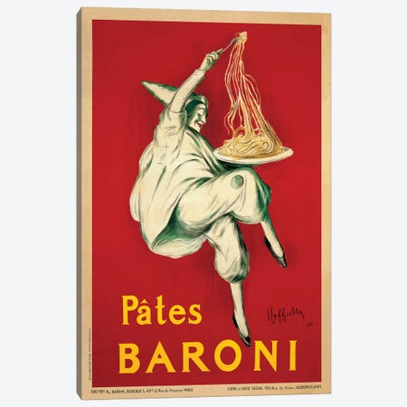 Pates Baroni, 1921 Canvas Print #LCA9} by Leonetto Cappiello Art Print