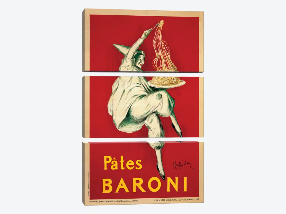 Pates Baroni, 1921 by Leonetto Cappiello 3-piece Canvas Art