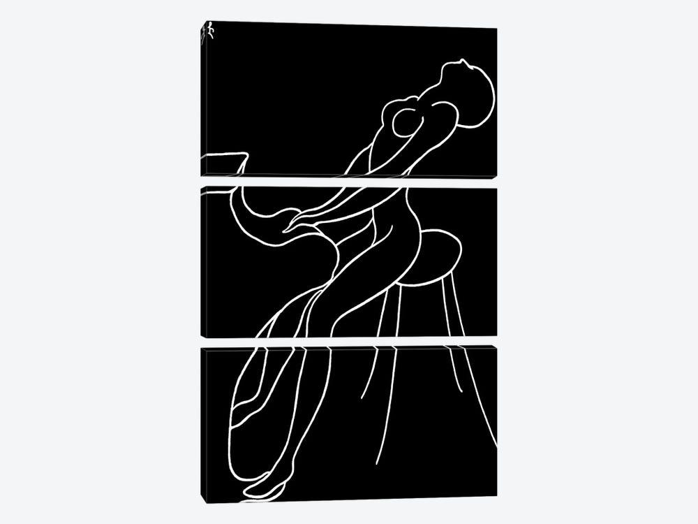 Pianist by Lia Chechelashvili 3-piece Canvas Wall Art