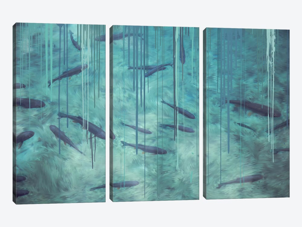 Shallow Shadows by 5by5collective 3-piece Canvas Art