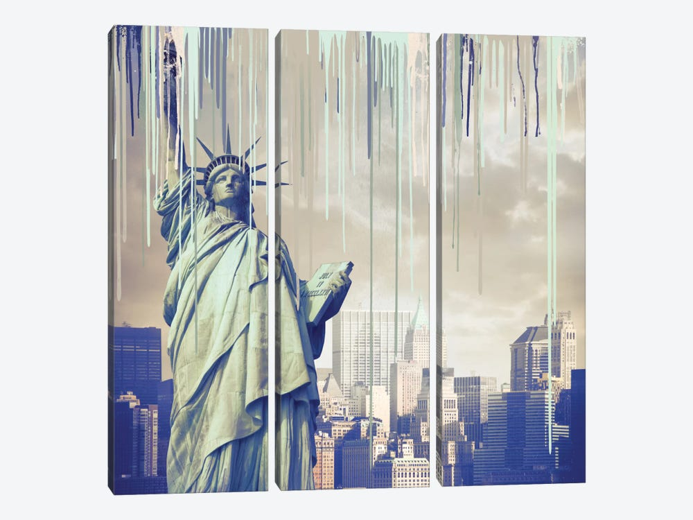 She Is Freedom by 5by5collective 3-piece Canvas Art Print