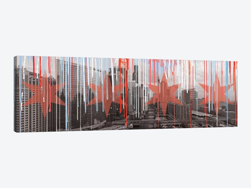 The Windy City by 5by5collective 1-piece Canvas Art Print