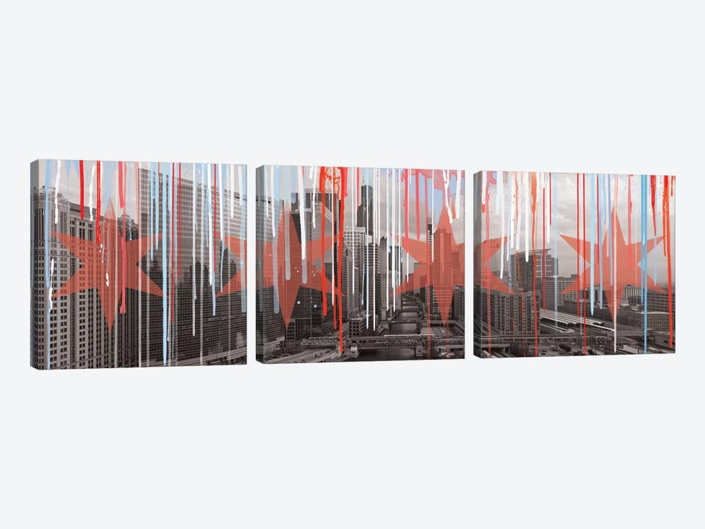 The Windy City by 5by5collective 3-piece Art Print