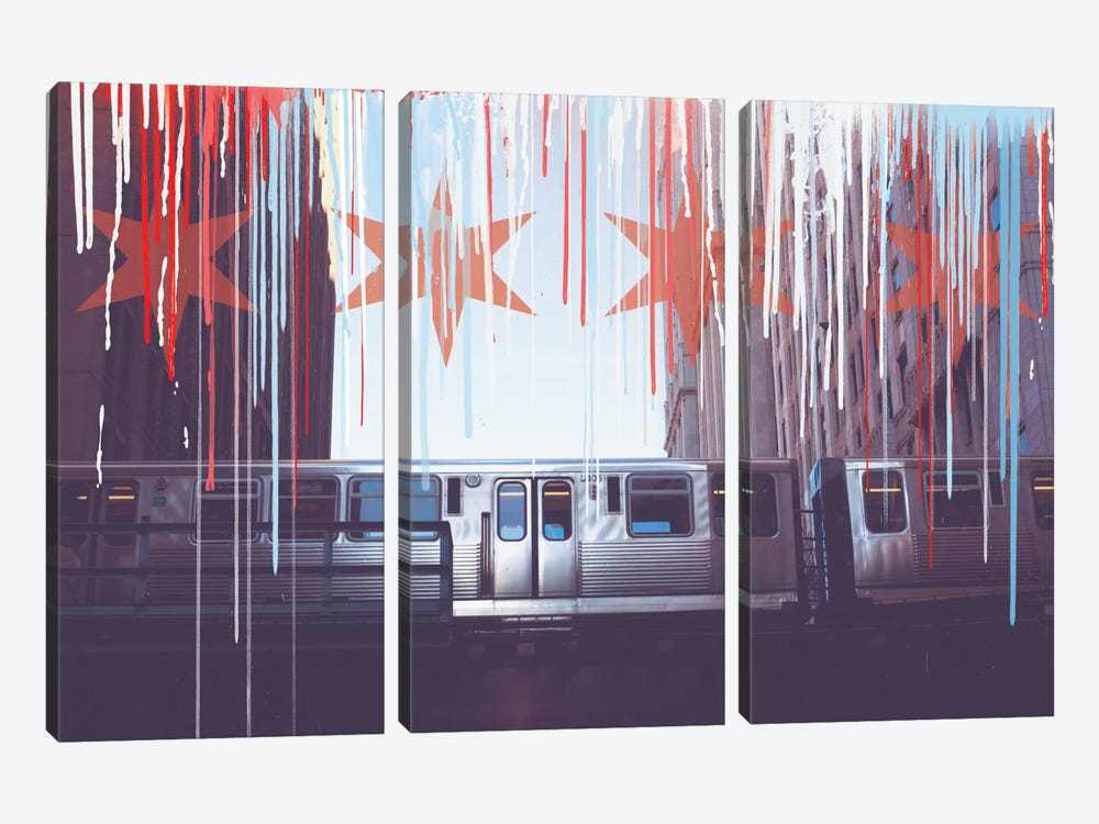 Transit In Style by 5by5collective 3-piece Canvas Print