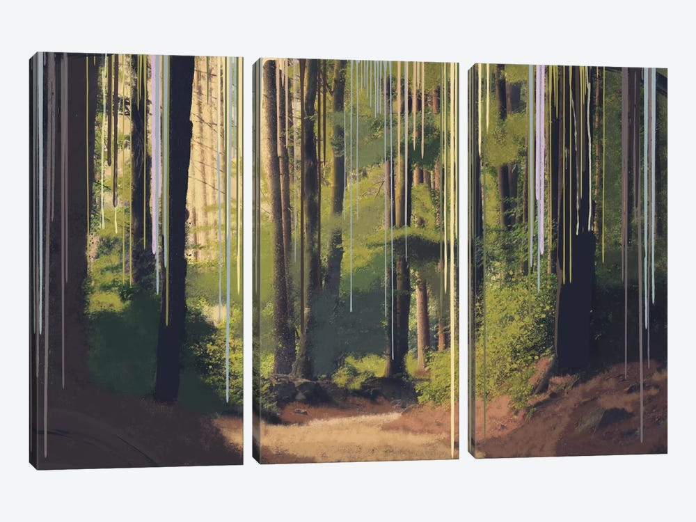 Become One With Nature by 5by5collective 3-piece Canvas Art