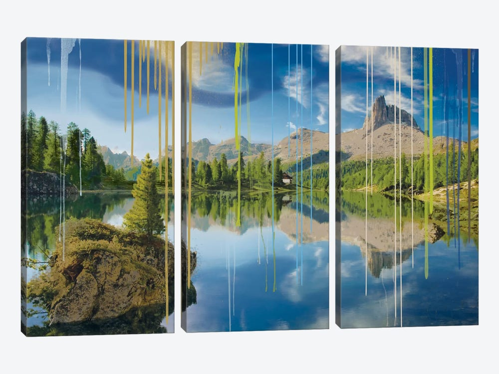 Camping In July by 5by5collective 3-piece Canvas Print