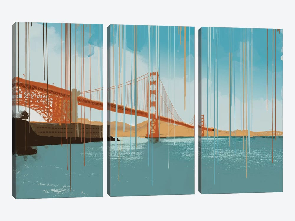 Gridlock by 5by5collective 3-piece Canvas Art Print