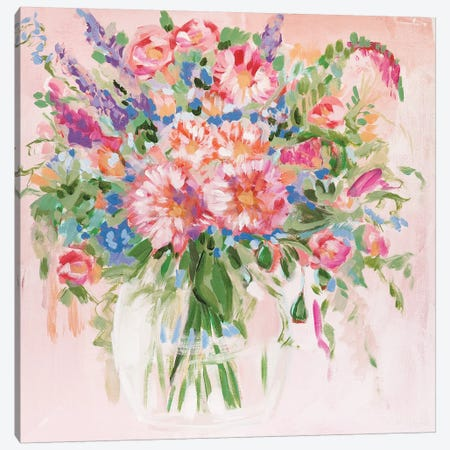 Flowers For My Love Canvas Print #LCM12} by Lauren Combs Canvas Wall Art