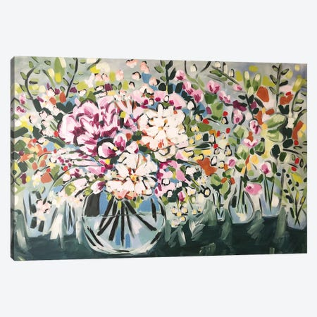 Flowers In Vases Canvas Print #LCM13} by Lauren Combs Canvas Wall Art