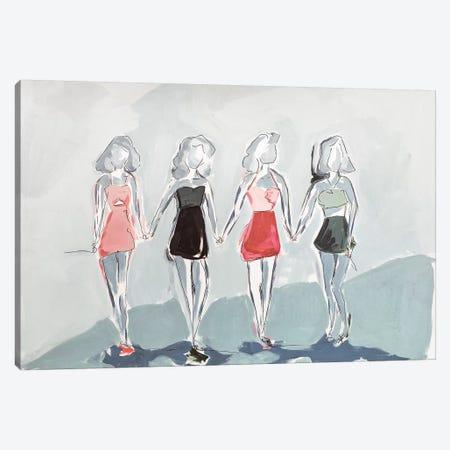 Girlfriends Canvas Print #LCM19} by Lauren Combs Canvas Art