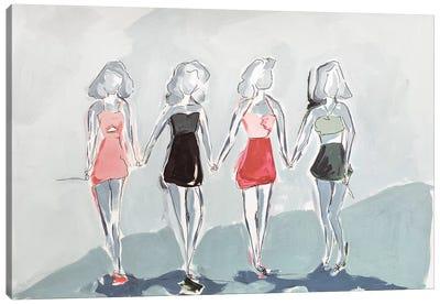 Girlfriends Canvas Art Print